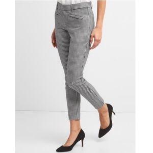 GAP Pants - gap skinny ankle gingham cropped pants